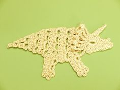Dinosaur Crochet Applique - Holy cow! What if we did green dresses with borders made of these??