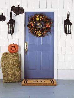 Refresh your door for Halloween with a new doormat!