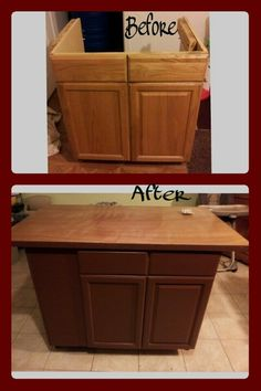 kitchen island diy on Pinterest