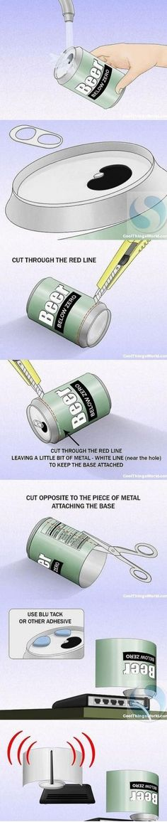 Pop can will increase the WiFi signal