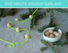 Five-minute neon holiday garland!