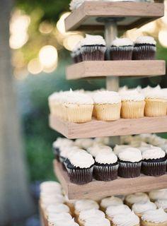 wood blocks turned cupcake holder