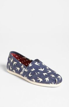 OISELLE TOMS?! OMG! TOMS 'Classic - Swallows' Slip-On (Women) (Exclusive Color) available at #Nordstrom