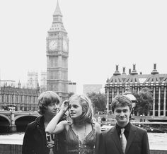 Rupurt Grint, Emma Watson, Dan Radcliffe in London