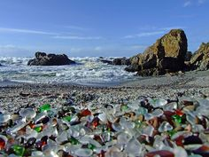 I'd love to visit Glass Beach in Fort Bragg, CA.