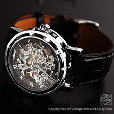 Mens Mechanical Watch Steampunk WAT0081SLIVER by VintageLovers2012 ($29.00) - Svpply