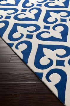 Zuna Wool Rug - Navy/White by Surya on @HauteLook
