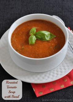 Roasted Tomato Soup with Basil {Vegan and Gluten Free}