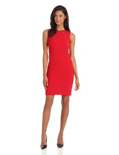32% Off was $128.00, now is $87.00! Calvin Klein Women's Sheath Dress With Zipper Detail + Free Shipping