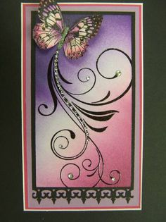 QFTD19  Blingy Butterfly by hobbydujour - Cards and Paper Crafts at Splitcoaststampers