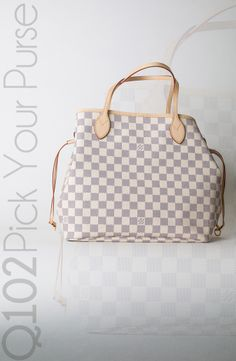 Louis Vuitton - Neverfull Damier Azur.  Go to wkrq.com to find out how to play Q102's Pick Your Purse!