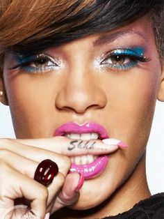 Shhh... Tattoo on Rihanna