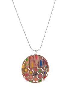 Colored pencil pendant