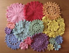 doily hand dyed