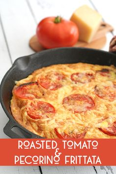 Easy low carb breakfast or dinner with the delicious sweetness of roasted tomatoes and the intensity of well-aged pecorino cheese.
