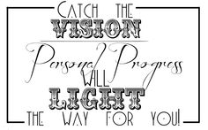 Young Women Ideas from 2 sisters: Catch the Vision of Personal Progress Handout