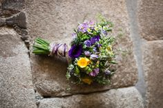 spring wedding bouquet / i like the way this is bound.