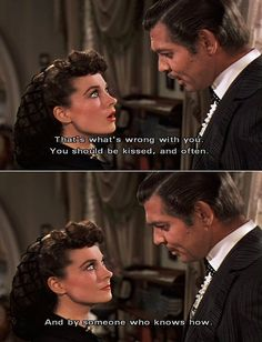 wind, old movies, clarks, book, clark gable, favorit movi, quot, movie lines, kisses