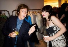 Paul McCartney and Zooey Deschanel awesomeness