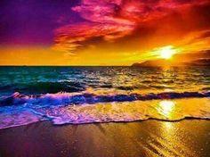 Rainbow sunset!