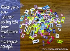 Use Magazine or Newspaper Scraps for Creating Redacted Poems