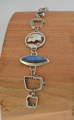 Sterling Silver Fabricated Bracelet with by ReaganHayhurst on Etsy, $265.00