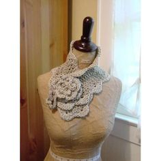crocheted neck scarf