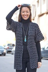 Caron International   Free Project   Perfect Office Crochet Jacket
