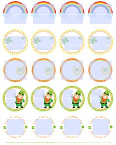Free fillable St Patricks day round labels..