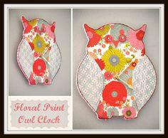 DIY Owl Clock #owl #clock #diy #craft #project