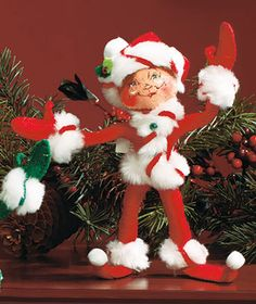 Annalee Christmas Doll - Red Peppermint Twist Elf Pixie