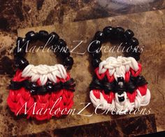 Santa Handbag Charms - use my Mini handbag charm Tutorial on youtube to help you create these.