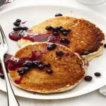 (not correct picture)  Healthy Pancakes with Strawberry Syrup