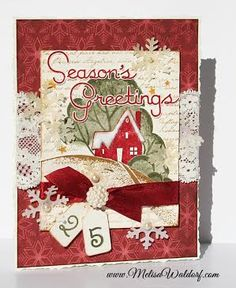 Christmas Card-a-Day: Day 12 stamp idea, christmas cards, christma card, card idea, card ii, christma inspir, card christma, christma hous, christmas houses