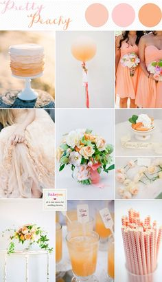 Peach wedding colours with a hint of blush - see more http://www.itakeyou.co.uk/wedding/peach-wedding-colours/