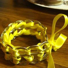 Just made this beer tab bracelet