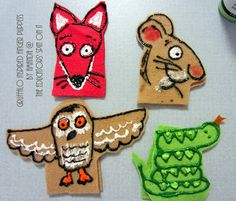 How to Make Gruffalo Finger Puppets for Creative Storytelling @The Educators' Spin On It