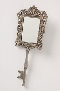 lock & key hand mirror