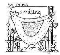 Dibujo para bordar. Embroidery pattern .