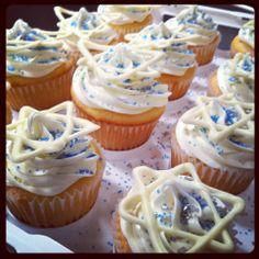 Hannukah cupcakes!