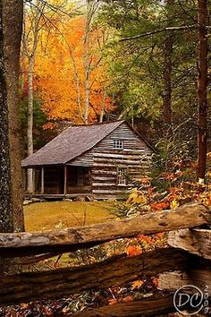 Carter Shields Cabin in Autumn(Cades Cove, Great Smokey Mountains National Park, 2009)