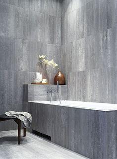 A beautiful minimalist grey bathroom. CheviotProducts likes this.