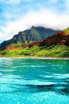 Kauai Hawaii Coastline at Napali
