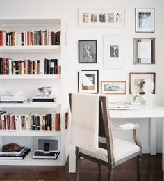 Beautiful white office space//