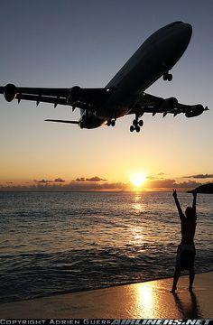 Airbus A340-313X @ St. Maarten - Princess Juliana Intl Airport