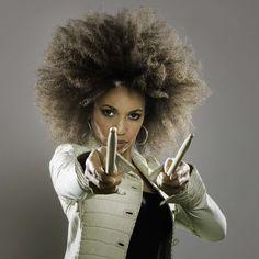 Cindy Blackman, 60  (aka Lenny Kravitz's bad-ass former drummer, and aka Mrs. Carlos Santana)