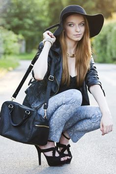 Printed pants contest - Martyna, Poland and her rock chic look