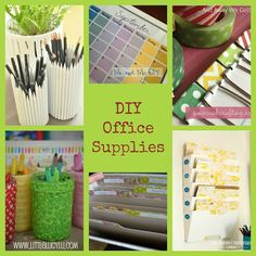 Love these DIY office supplies!