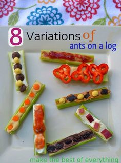 Eight Unique Ants on a Log variations!!