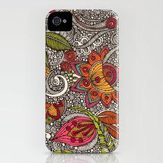 Random Flowers iPhone Case